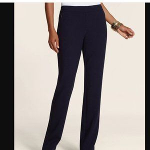 Chico's MANHATTAN SIDE ZIP PANTS  size M/8